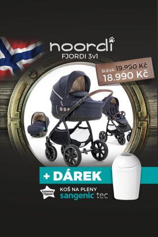 Noordi Kočárek Fjordi SP 3v1 Deep Grey