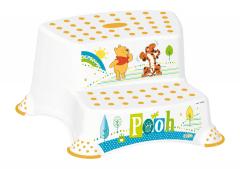 Dvojstupínek k WC/umyvadlu Winnie Pooh, Bílá