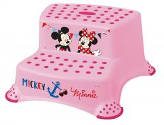 Dvojstupínek k WC/umyvadlu Mickey&Minnie, Růžová