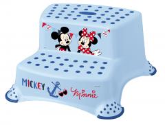 Dvojstupínek k WC/umyvadlu Mickey&Minnie, Modrá