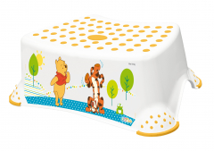 Stupínek k WC/umyvadlu Winnie Pooh, Bílá