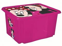 Úložný box s víkem Minnie, Růžová