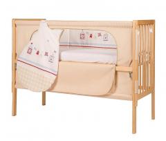 16401-6 Postýlka Roba Room Bed svýškově nastavitelným dnem Sunny Day Beige V172