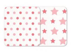 ODENWÄLDER zavinovačka 2ks Hvězdy/puntíky 120x120 rosé