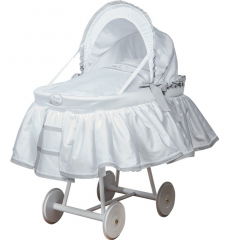 Košík pro miminko CHEESECAKE s boudičkou, bílá/šedá